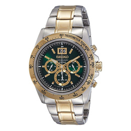 SEIKO LORD CHRONOGRAPH SPC230P1 STAINLESS STEEL MEN S TWO TONE WATCH