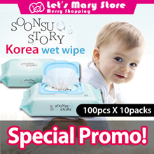 ★ SoonSu Story ★ wet wipes★baby wipes★Korea No.1 Wet Wipe ★Safe for baby★High quality /