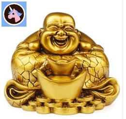 Resin double ingot Maitreya smiling Buddha Buddha Bodhisattva smile lucky Home Furnishing decoration