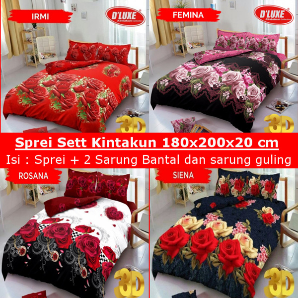 KINTAKUN Sprei D Luxe 180X200CM Deals for only Rp109.000 instead of Rp109.000