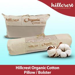 Hillcrest 100% Cotton Pillow Bolster High Firm Pillow 48cm x 74cm
