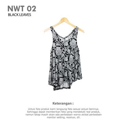 NWT 02 BLACK LEAVES