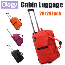 Top Quality! 20-24 inches Premium Waterproof Cabin Size Travel Foldable Luggage Suitcase Rolling Bag
