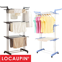 Locaupin 3 Tier Foldable Clothes Drying Rack