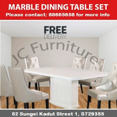 Marble Series 2 Dining Table Set 1 Table 4 Chairs Free Delivery Installation