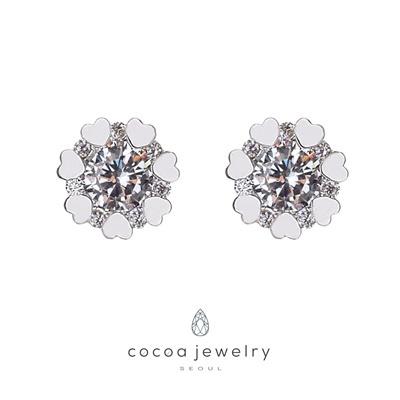 Cocoa Jewelry Anting Crystal Flower 01-IYE-05.1