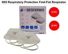 *N95 FACE MASK*[BREATH RIGHT] N95 RESPIRATOR PROTECTION FOLD-FLAT RESPIRATOR