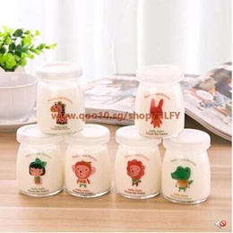 Creative jelly pudding bottle of yogurt mousse cup with lid high temperature glass milk bottle bottl