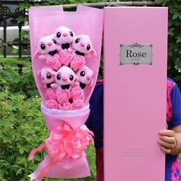 sale Kawaii Cartoon Lilo Stitch Plush Doll Toys Cute Lilo Stich Plush  Bouquet With Fake Flower 0715e73e19825