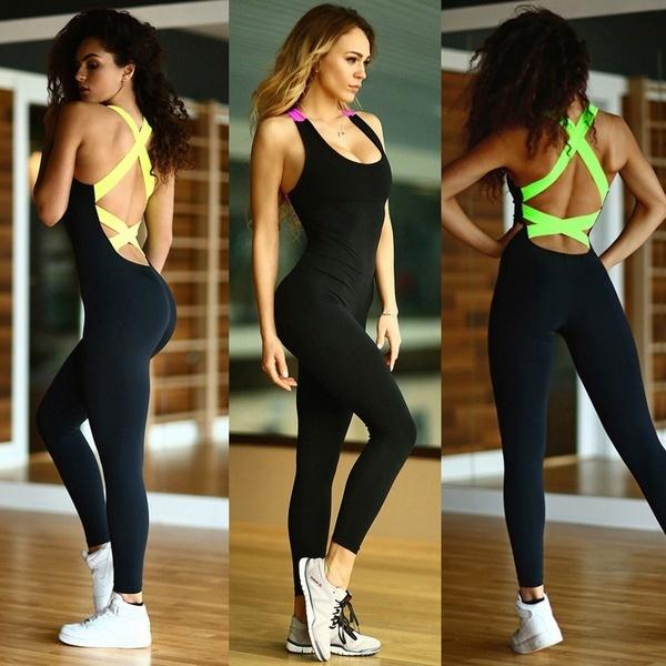 新しい到着女性の厚いスポーツヨーガ運動ジムフィットネスレギンスズボンジャンプスーツ