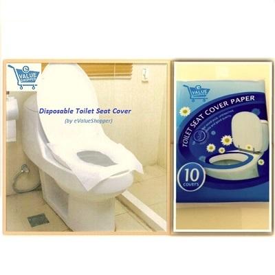 (Travel Essentials HYGIENE 1st)Disposable/Flushable Toilet Seat Cover Of  10pcs Per Pack