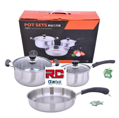 Qoo10 3 in 1 pot set kitchen dining for Qoo10 kitchen set