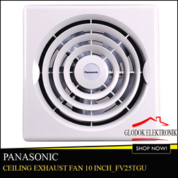 Panasonic FV25TGU_Ceiling Exhaust Fan 10 inch_Free Ongkir Jadetabek