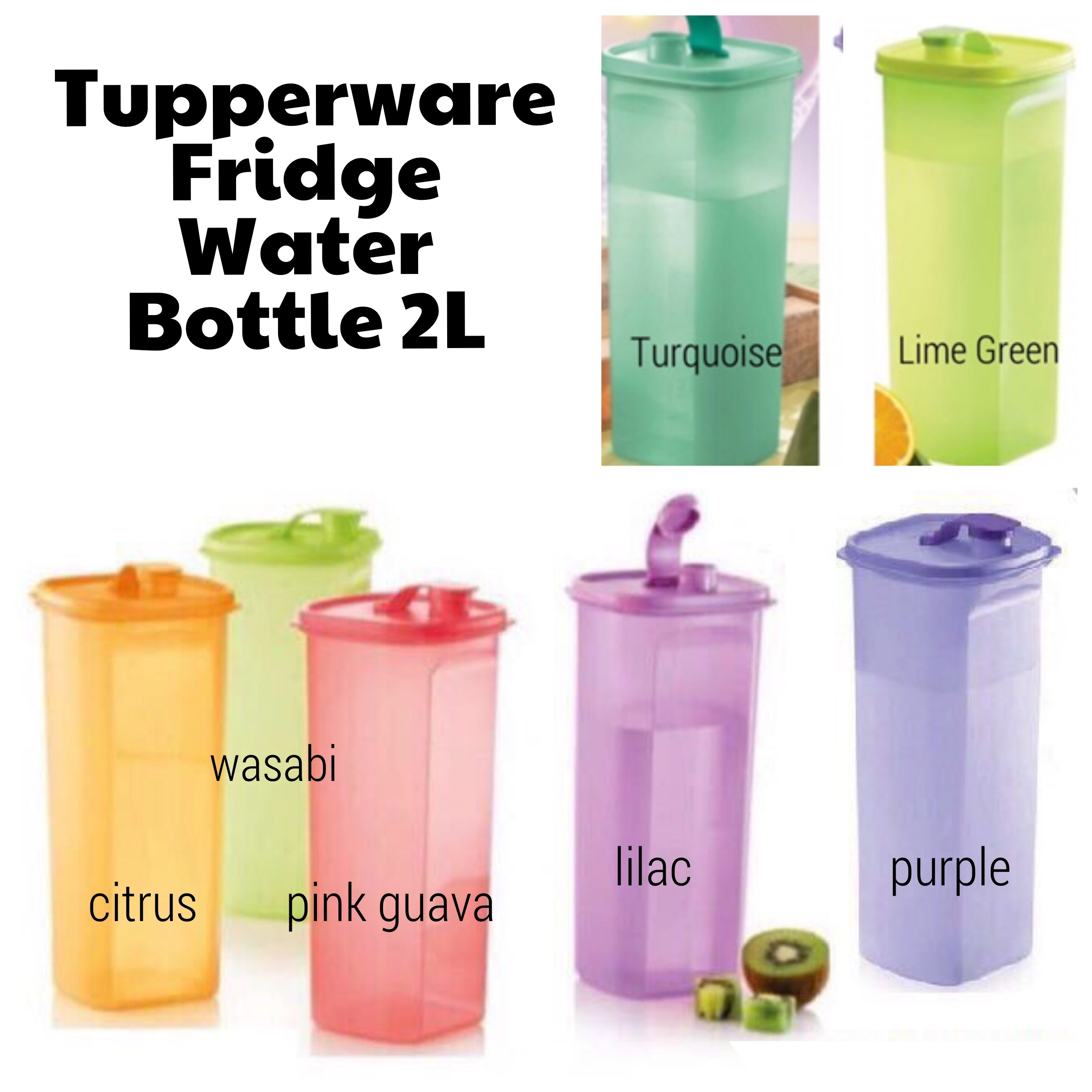 Tupperware Fridge Water Bottle 2 0l With Free Qxpress Delivery