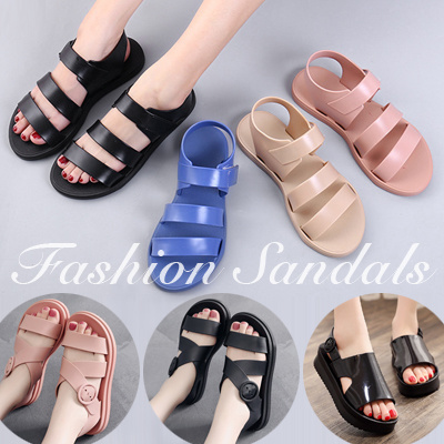 aad3ab3f5 Free Shipping Fashion Jelly Sandals Flat Shoes Summer Non-slip Beach Shoes  for Women