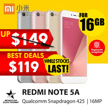 Redmi Note 5A *16GB/32GB/ 64GB * Snapdragon - Ready Stocks! Flash Deals start 1000hrs on 16th
