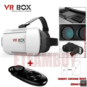 2015 Google cardboard VR BOX Version VR Virtual Reality Glasses + Smart Bluetooth Wireless Mouse / R