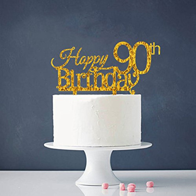 INNORU Happy 90th Birthday Cake Topper