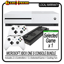 Best Promotion! Brand New Xbox One S w 2 Controllers + 1 Game + Cooling Fan Local Warranty One Year