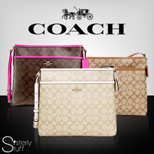 DIRECT SHIPMENT FROM USA - COACH - FILE BAG IN SIGNATURE - USE CART+SHOP COUPON
