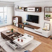 [Agoramart] Premium Wooden Furniture  TV Console | Coffee Table *Free Assemble * Free Delivery