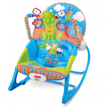 Adjustable Infant To Toddler Rocker Music Baby Swinging Chair Reclining Seat Vibration Simulating To