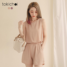 TOKICHOI - Basic Chiffon Top with Shorts-180953-Winter