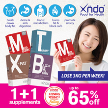 [1+1 Mix Match] Xndo Carbo Blocker Burner Detox Slimming Tablets
