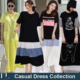 ♥Long Dress♥ Hoodie Dress / Casual Dress / Long Dress / LOOSE Fit  / Basic / Dress / Maxi