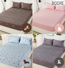 Bodrae Hello Sigle Layer Bed Mattress Bedsheet Cover/ 100% Cotton Bedding Quilt Pads