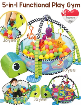 5-in-1 Multifunctional Baby Play Gym / Playgym / Mat/ Playmat /  Bouncer / Rocker / Stroller / Car