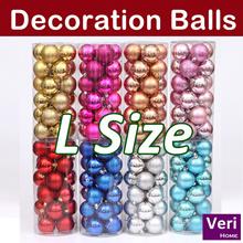 【24pcs/barrel big size Decorations Balls! 11 colors! 6cm/8cm】Xmas tree/Party/Event/Home decorations!