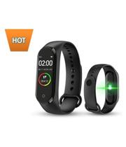 SketchFab M4 Smart Fitnessband Smart Bracelet (Colour: Black)