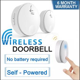 [3 Pin plug] Linbell G2/G3 Self-Powered Batteryless Wireless Doorbell distance up to 100m Door Bell