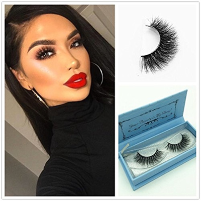 e1f05e2481a Miss Kiss 3D Mink Fur Eyelashes Hand-made False Stirp Reusable Lashes 100%  Siberian