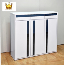 [Furniture King] ✰ Shoe Cabinet✰ Kali 3 Door Shoe Rack (White Color)