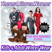 Kids Adult Winter Thermal Wear ♥Down Jackets♥Travel upto -10 degrees♥Wool Pyjamas♥Express Shipping