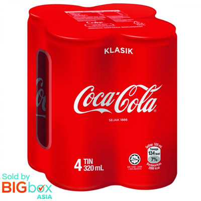 [BUNDLE 4] Coca-Cola Can 4 x 320ml