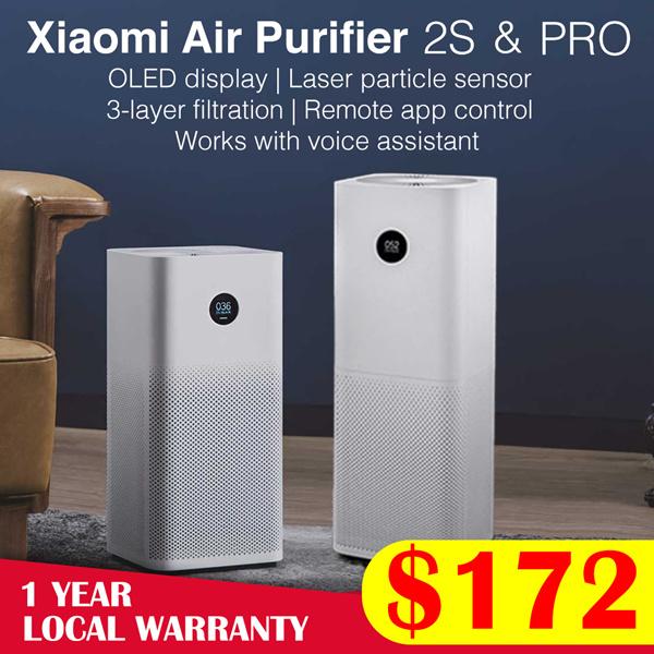 ?Toko Resmi? Xiaomi Air Purifier 2S // Pro | Tampilan Layar OLED | 500m³ / jam CADR | Garansi Lokal Deals for only Rp1.764.500 instead of Rp3.150.890