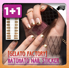 [GELATO FACTORY] [1+1 Promo] HATOHATO NAIL STICKER 20 DESIGNS