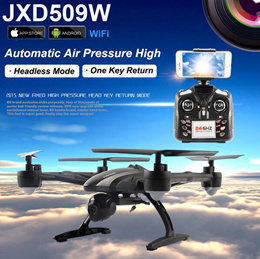 JXD 509W JXD509W WIFI FPV High Hold Mode One Key Return RC Quadcopter RTF 2.4GHz Drone with HD Camera