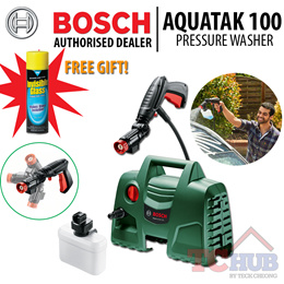 Bosch EasyAquatak 100 High Pressure Washer. 360 Degree allows easy cleaning.