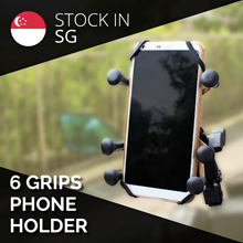 [Motomall] 6 Grips Bike Phone Holder / Handle bar / Mirror Mount