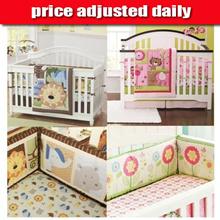 baby cot bedding set / crib bed bumper cot sheet quilt diaper stacker comforter skirting bumpers