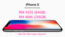 RM 4155 for Iphone X (64GB) / RM 4686 for Iphone X (256GB) ( RM 400 coupon discount )[Ready stock / Sealed] Apple iPhone X 64GB 256GB LTE (Space Gray/Silver) - 1 Year Seller Warranty