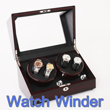 Automatic Watch Winder Watches Box Winding Watch Battery DC Powered Multi Option Control Watch Case