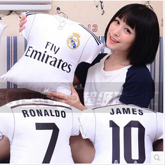cheaper 2bff5 f6d4b 14-15 new season Real Madrid home jersey pillow 45CM large C Luo J Roberto  Berk Ross Benzema--oz