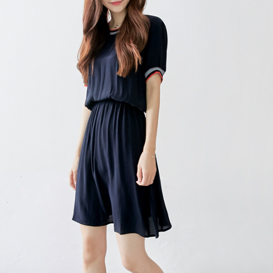イニク忠バンディングOPSワンピース 綿ワンピース/ 韓国ファッション