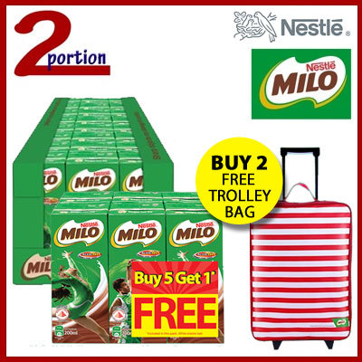 1 Carton 24x200ml MILO® UHT Chocolate Malt Packet Drink Deals for only S$39.9 instead of S$0