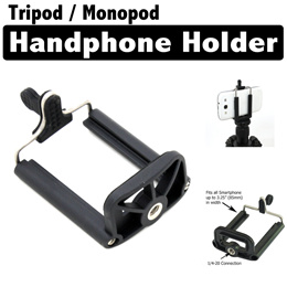 Mobile Phone Handphone Holder for Tripod / Monopod